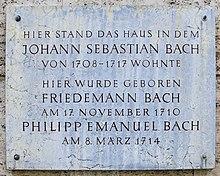 photo: plaque commémorative à Weimar