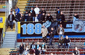 Gefle IF - Gefle IF supporters during an away trip in 2012 to Råsunda Stadium where they played against AIK.