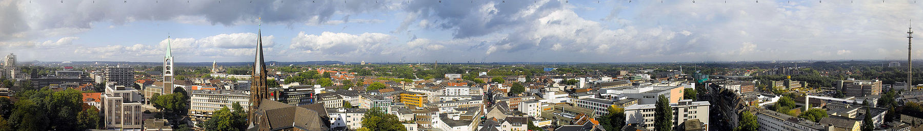 Gelsenkirchen Altstadt banner Panorama over city.jpg