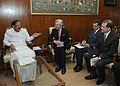 Geoffrey Van Orden calling on the Union Minister for Urban Development, Housing and Urban Poverty Alleviation and Parliamentary Affairs, Shri M. Venkaiah Naidu, in New Delhi on March 16, 2015.jpg
