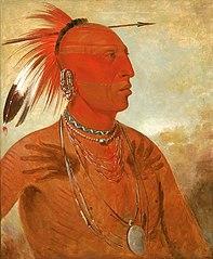 La-wáh-he-coots-la-sháw-no, Brave Chief, a Skidi (Wolf) Pawnee