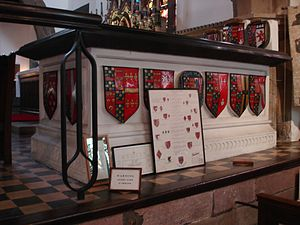 George Clifford, 3rd Earl of Cumberland - Chest tomb of George Clifford in Holy Trinity Church, Skipton