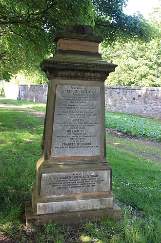 George Outram - George Outram's grave, Warriston Cemetery