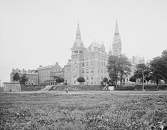 Southern view of the Georgetown University campus c. 1904 Georgetown University, Washington, D.C.4a11813v.jpg