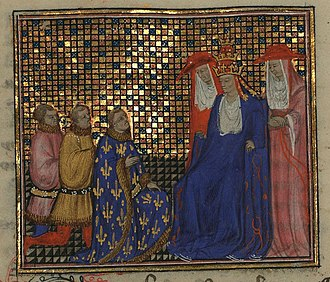 Antipope Clement VII - interview between the duke of Anjou and pope Clement VII at Avignon (1379).