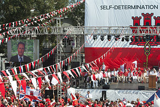 Gibraltar Conservatives - David Cameron speaking at the Gibraltar National Day by video link in 2013.