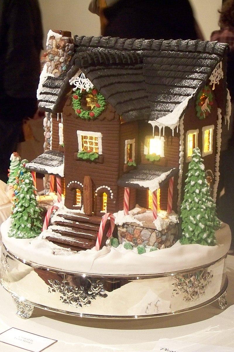 Торт новогодний домик пошаговый рецепт