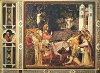 Entrada triunfal de Jesucristo en Jerusalén, pintada por Giotto