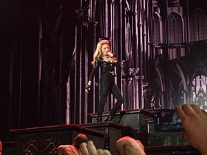 "The MDNA Tour - Madonna opening the concert with the performance of ""Girl Gone Wild""."