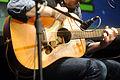 Glen Hansard's guitar - Lucca Comics & Games 2015.JPG