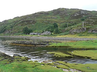 Glenuig - Image: Glenuig, view across bay geograph.org.uk 918774