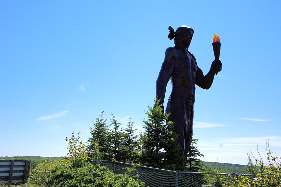 Glooscap monument, Millbrook, Nova Scotia