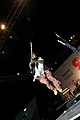 Goa -- Pop star Remo Fernandes jumps high while performing at Arpora 2.jpg