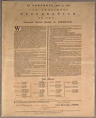 Committee of Five - Image: Goddard broadside