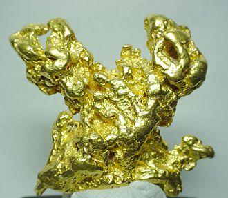Tibooburra, New South Wales - Gold specimen from Tibooburra, size 5 x 4.5 x 1.1 cm.