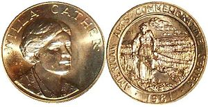 English: Obverse and reverse of 1981 Willa Cat...
