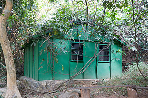 Gombe Stream National Park - Feeding station where Jane Goodall used to feed the chimps