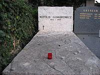 Gombrowicz grave.JPG