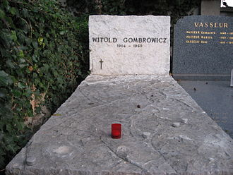 Witold Gombrowicz - Gombrowicz's grave in Vence