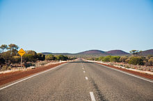 Photograph of single carriageway road