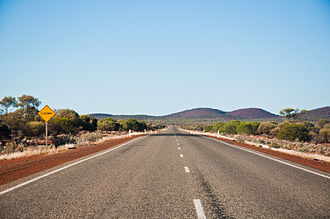 Great Northern Highway bei Payne's Find südlich von Mount Magnet