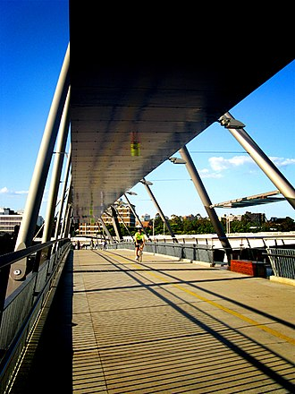 South Bank Parklands - The Goodwill Bridge connecting the South Bank Parklands to Gardens Point