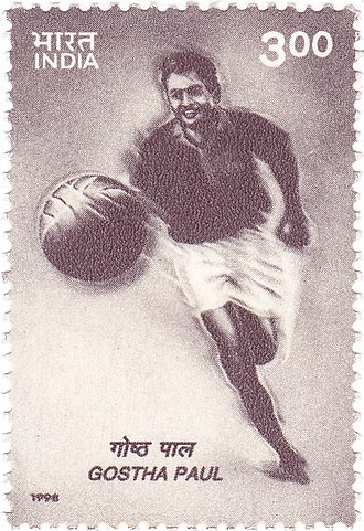 India national football team - Postal stamp issued in 1998, to honour Gostha Pal.