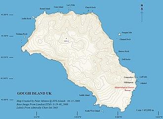 Gough Island - Image: Gough Island Map