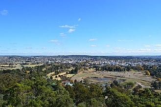 Goulburn, New South Wales - Goulburn seen from Rocky Hill