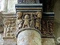 Gournay-en-Bray (76), collégiale St-Hildevert, chœur, 3e grande arcade du sud, chapiteau côté est 1.jpg