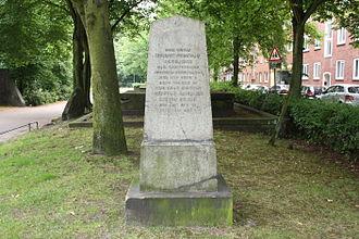 Heinrich Christian Schumacher - Monument marking the  Heilig-Geist-Kirchhof in Hamburg-Altona