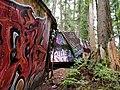 Graffiti on the train wreck, Whistler (28607416387).jpg