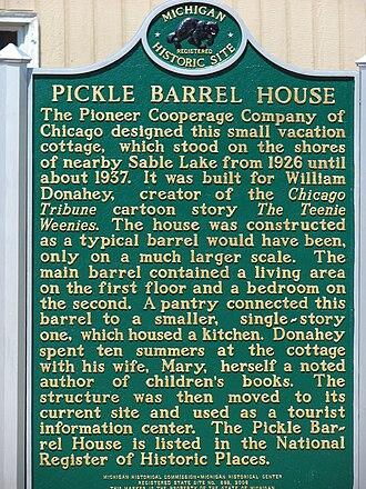 Pickle Barrel House - Pickle Barrel House historical sign