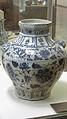 Grande jarre ovoïde, porcelaine blanc et bleu Yuan. Musée Guimet.jpg