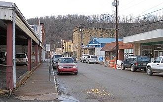 Grantsville, West Virginia - Main Street in Grantsville in 2006