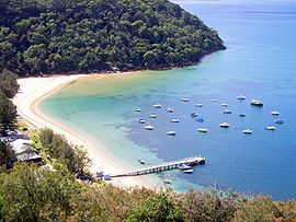Great Mackerel Beach from southern headland.jpg
