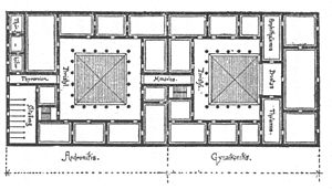 Mathematics and architecture - Plan of a Greek house by Vitruvius