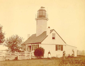 Greenbury Point Light - Greenbury Point Light in 1885 (USCG)