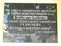 GuentherZ 2011-07-09 0038 Harmannsdorf Schloss Gedenktafel Bertha Suttner.jpg