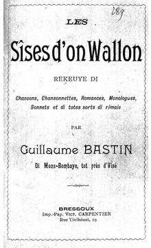 Guillaume Bastin - Les sîses d'on wallon, 1899.djvu