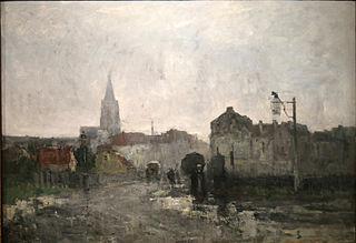 Ixelles, Raining morning