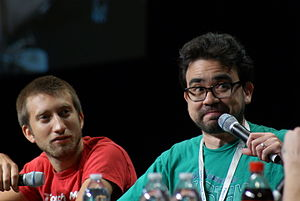 RTX (event) - Gavin Free and Gus Sorola co-hosting a panel for the Rooster Teeth Podcast at RTX 2013