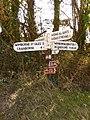Gussage All Saints, Amen Corner finger-post - geograph.org.uk - 1741318.jpg