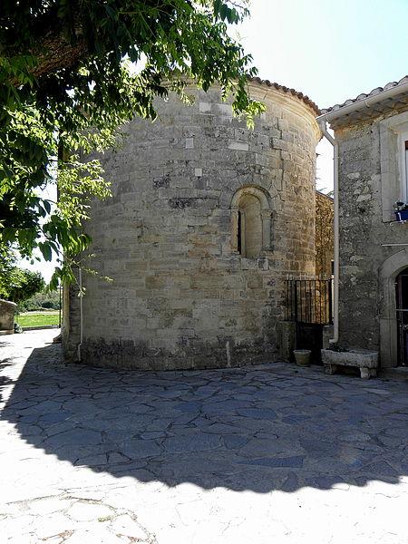 Église Saint-Michel de Guzargues (34). Chevet.