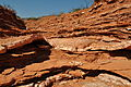 Gypsum layers Caprock Canyons 2.JPG