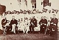 HH The Maharaja Sir Jayaji Rao Scindia of Gwalior, General Sir Henry Daly (Founder of The Daly College, Indore), with British officers and Maratha nobility in Indore, Holkar State, Cental India. Circa 1879..jpg
