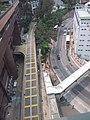 HKU 香港大學 PFL campus 薄扶林校園 Haking Building footbridge n MTR lift Tower view Pokfulam Road 潮商學校 Chiu Sheung School April 2019 SSG 02.jpg