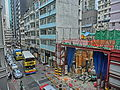 HK Central 擺花街 Lyndhurst Terrace construction site Dec-2013 CityBus 40M.JPG