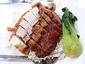 HK PFL campus 香港大學 HKU 黃克競大樓 Haking Wong Building catering outlet Union Restaurant (EAT) by Sodexo dinner rice 叉燒 BbQ pork meat 燒肉 pork meat 碟頭飯 May 2019 SSG 05.jpg