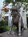 HK Wan Chai China Resources Building animal statue 02 Xiezhi Oct-2012.JPG